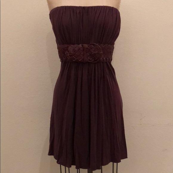 992ff13017c Sky Dresses   Strapless Braided Belt Dress Plum   Poshmark